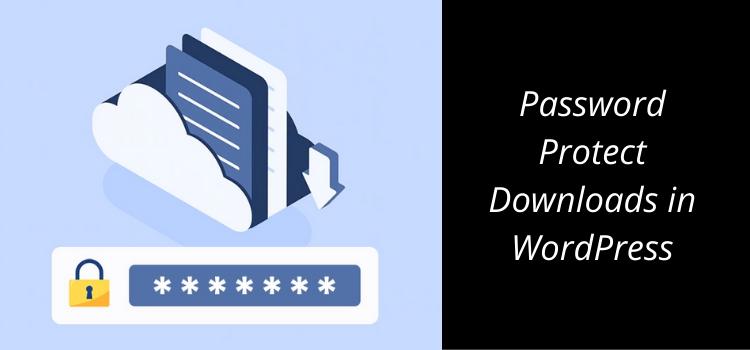 Password Protect Downloads in WordPress